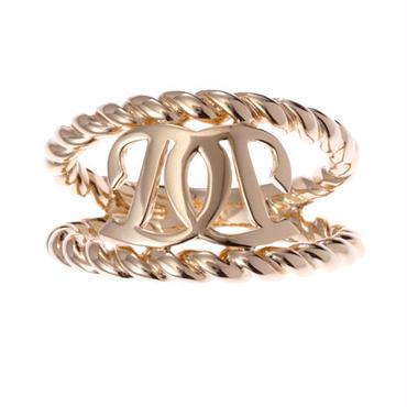 リング 指輪 レディース ロゴ イエローゴールドコート 「DILAKSHリング」