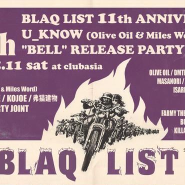BLAQLIST 11th Anniversary Invitation Ticket
