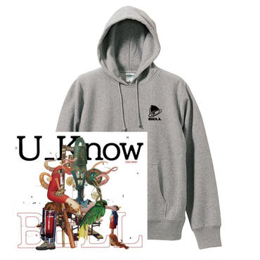 "U_Know ""BELL"" SWEAT SET  -Gray- (Parker + CD)"