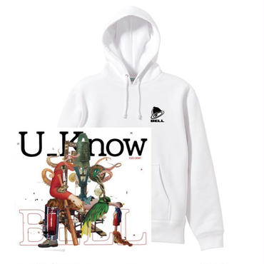 "U_Know ""BELL"" SWEAT SET  -White- (Parker + CD)"
