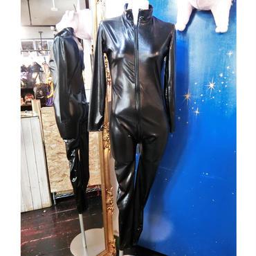 BB-906596 フェイクレザーキャットスーツ<BLK>