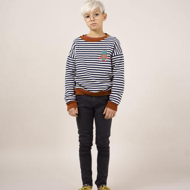 BOBO CHOSES logo print stripes sweater  トレーナー 定価$116
