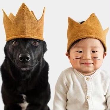 王冠 ニット帽子 北欧系