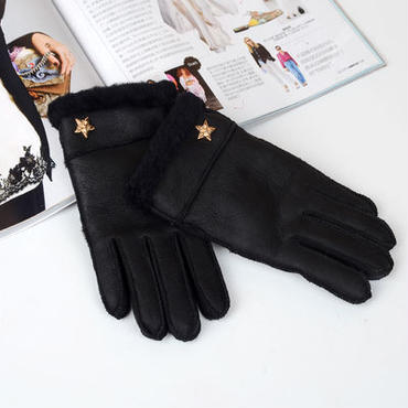 star gloves black