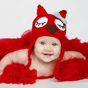 新生児ー1才対応 ねこ ニット帽子 コスチューム