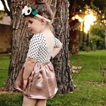 水玉セットアップ Tシャツ&スカート