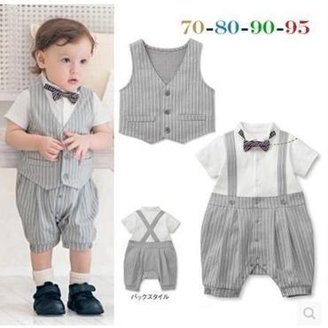 子供用 半袖フォーマル服 スーツタキシード  baby-165