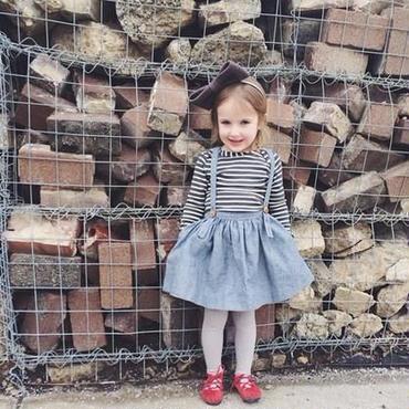 子供服 オーバーオールデニム風 スカート