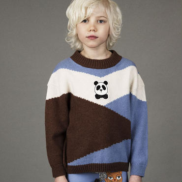 mini rodini ミニロディーニ PANDA WOOL PULLOVER セーター 定価$119