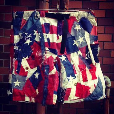 【GILET】・VINTAGEアメリカ国旗パッチワークショーツ