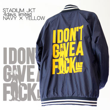 4days limited・STADIUM JKT『I DON'T GIVE A FxxK』NAVY×YELLOW  【限定11着】