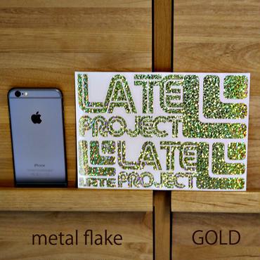 メタルフレーク・カッティングステッカー3枚セット【限定のため在庫限り・A5サイズ】ゴールド、ブルー