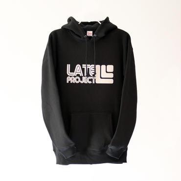 【完売】スノーボーダーのために作ったポケットファスナー付きパーカー『LATEproject×BANPS』 BLACK×WHITE