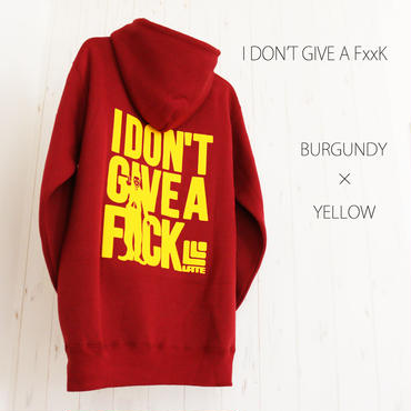 9limited Parker『I DON'T GIVE A F××K』 BURGUNDY×YELLOW 【限定9着】