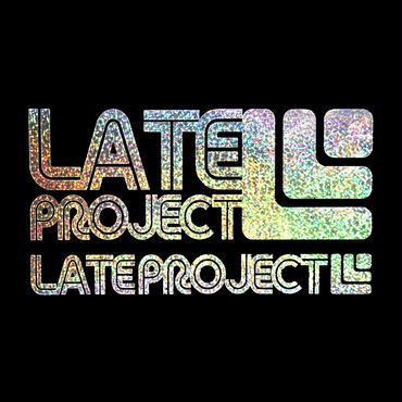 カッティングステッカー【LATEproject定番ロゴ】メタルフレーク・シルバー・2種類セット