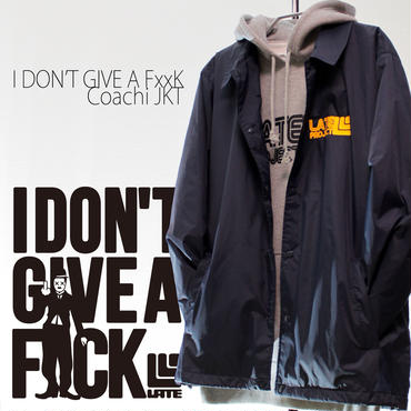 3days limited・Coach JKT『I DON'T GIVE A FxxK』NAVY×YELLOW 【限定21着】