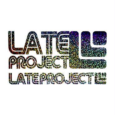 カッティングステッカー【LATEproject定番ロゴ】メタルフレーク・ギャラクシー・2種類セット