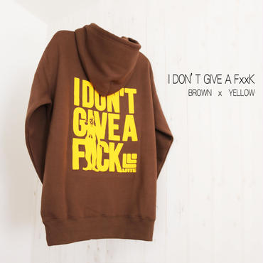 【完売】9 limited Parker『I DON'T GIVE A F××K』 BROWN×YELLOW