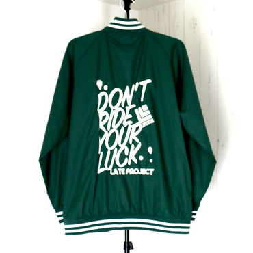 STADIUM JKT『DON'T RIDE YOUR LUCK』グリーン×ホワイト 【限定15着】