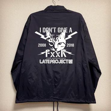 コーチジャケット・ネイビー『猫 × I DON'T GIVE A FxxK』19日20時から24時間限定受注・6アイテム合計20着限定
