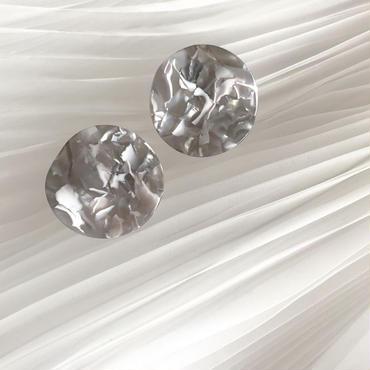gray marble pierce earring