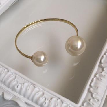 Imitation pearl gold bracelet