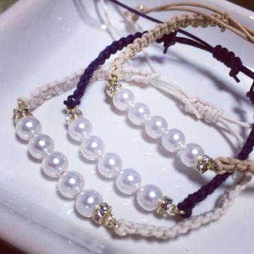 Imitation pearl bracelet