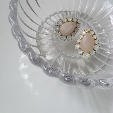 Drop stone pierce earring