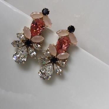 Pink babypink pierce earring