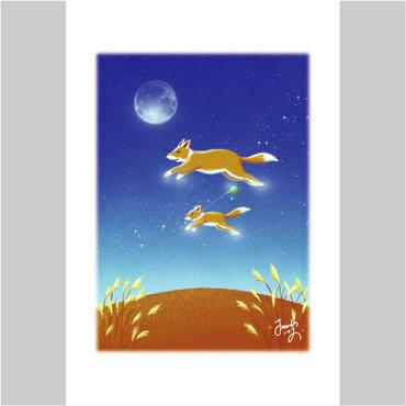 「きつねくんの信頼の風船」ポストカード