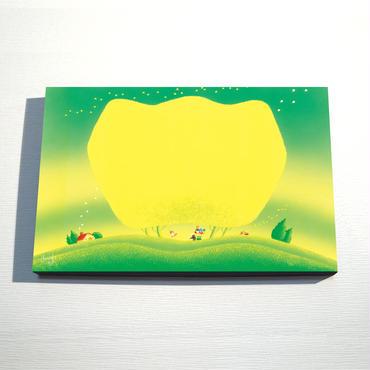【デジタル版画/B4キャンバス】「お花のメロディー」