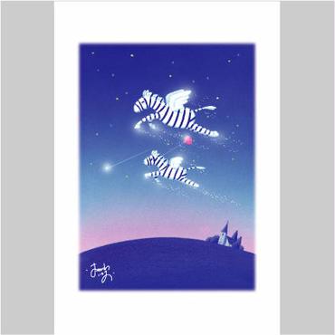 「エンゼルホースくんの愛の風船」ポストカード