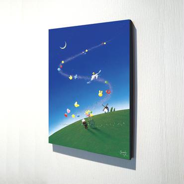 【デジタル版画/B4キャンバス】「夢にのせて」