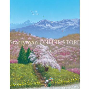 【デジタル版画/B5アクリル】「福島から春爛漫の贈りもの」
