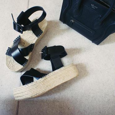 jute cross sandal