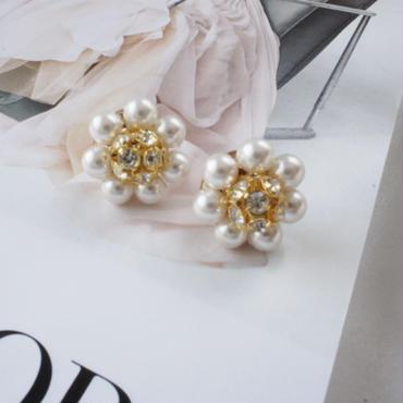 pearl flower pierce,earring