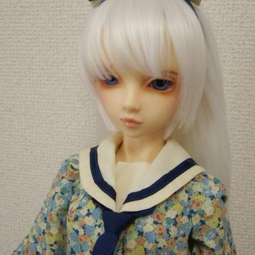 【SD/SD13】セーラーカラーワンピースセット ブルー
