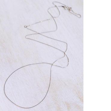 K18WGネックレス グレース80cm(WhiteGold)◆BASIC