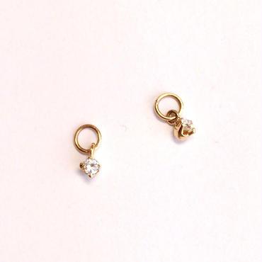 K18ダイヤ/イヤリング&ピアス兼用チャーム
