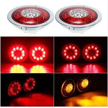 汎用 LED テールランプ 12V/24V トラック トレーラー ブレーキ ターンテールランプ マーカー 2個セット