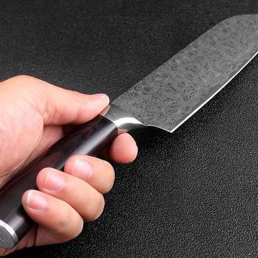2ピース包丁 8インチシェフ&7インチユーティリティ三徳ナイフ ステンレス鋼模倣ダマスカス 調理ナイフツール