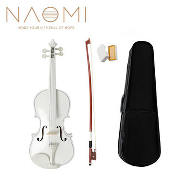 NAOMI バイオリン ヴァイオリン 4/4 サイズ 初心者 練習用 ケースセット ホワイト