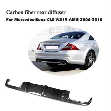 W219 ClSクラス カーボン ディフューザー エアロ リアハーフ AMG CLS550 CLS63 CLS350 2006-2010年