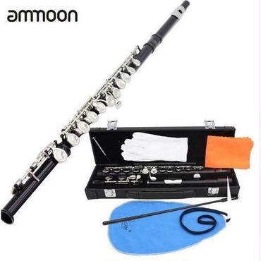 フルート Cキー 木管 本体 初心者セット 白銅メッキ シルバー 黒ケース 楽器 吹奏楽