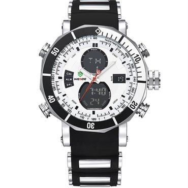 高級時計 メンズ スポーツ 腕時計 デジタルデュアル 防水機能 希少 日本未発表モデル シリコンバンド