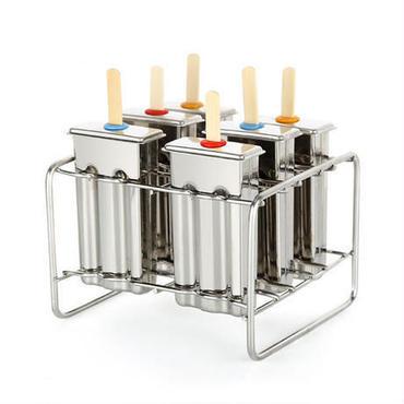6スロット ステンレススチール アイスクリームスティックホルダー 金型 DIYアイスクリーム