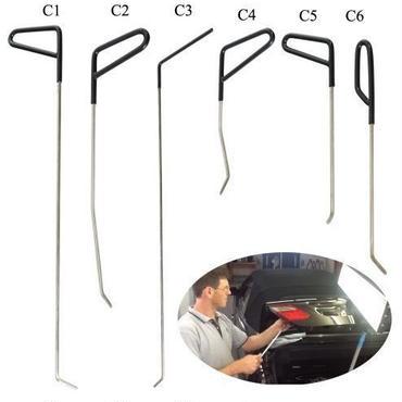 自動車 へこみ 修理 ツール キット 凹み リムーバー PDR Pods Tools ロッド無塗装 デントツール