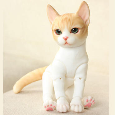 球体関節人形 本体+眼球 BJD カスタムドール 猫