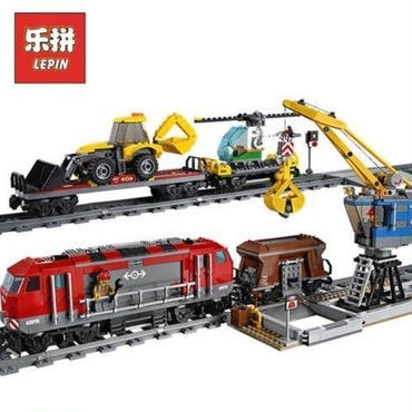 レゴ互換 シティ 貨物列車 60098相当 ブロックおもちゃ