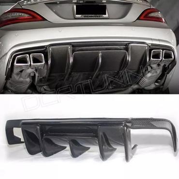 メルセデス ベンツ 汎用 社外品 W218 CLS エアロ ディフューザー カーボン CLS350 CLS63 AMGバンパー対応 リアバンパー 2011-13年